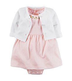 Carter's® Baby Girls' 2-Piece Geometric Dress With Cardigan Set