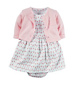 Carter's® Baby Girls' 2-Piece Geo Dress With Cardigan Set
