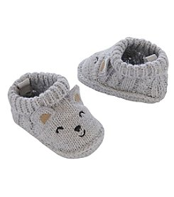 Carter's® Baby Boys' Cable Knit Bear Booties