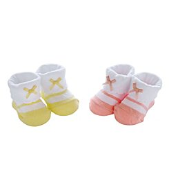 Carter's® Baby Girls' 2-Pack Satin Bow Mary Janes Keepsake Socks