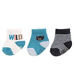 Carter's® Baby Boys' 3-Pack Happy Camper Keepsake Socks
