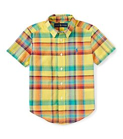 Ralph Lauren Childrenswear Boys' 8-20 Short Sleeve Madras Button Down Shirt