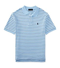 Ralph Lauren Childrenswear Boys' 8-20 Short Sleeve Striped Interlock Polo