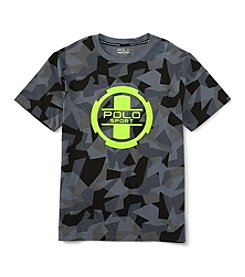 Ralph Lauren Childrenswear Boys' 8-20 Short Sleeve Active Camo Tee