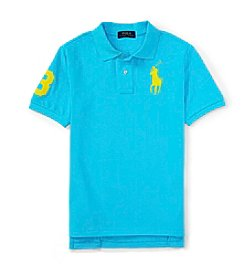 Ralph Lauren Childrenswear Boys' 2T-7 Short Sleeve Big Pony Mesh Polo