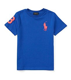 Ralph Lauren Childrenswear Boys' 2T-7 Short Sleeve Big Pony Tee