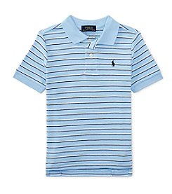 Ralph Lauren Childrenswear Boys' 2T-7 Short Sleeve Striped Interlock Polo