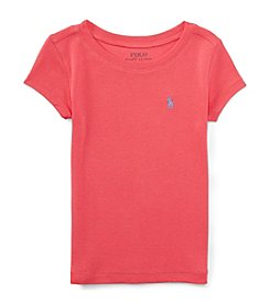 Ralph Lauren Childrenswear Girls' 2T-6X Short Sleeve Modal Tee