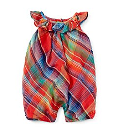 Ralph Lauren® Baby Girls' Madras Bubble One-Piece Shortall