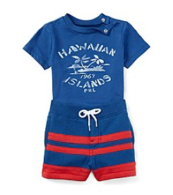 Ralph Lauren Childrenswear Baby Boys Hawaiian Islands Tee And Shorts Set