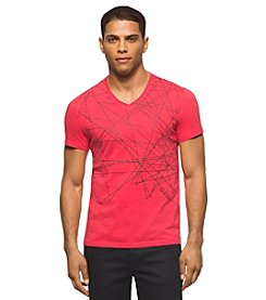 Calvin Klein Men's Abstract Scatter Print Short Sleeve Tee