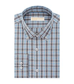 MICHAEL Michael Kors® Men's Regular Fit Plaid Long Sleeve Button Down Collar Dress Shirt