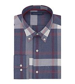Tommy Hilfiger® Men's Regular Fit Plaid Non-Iron Long Sleeve Button Down Collar Dress Shirt