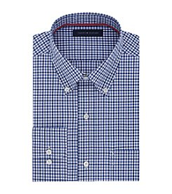 Tommy Hilfiger® Men's Regular Fit Non-Iron Gingham Button Down Collar Long Sleeve Dress Shirt