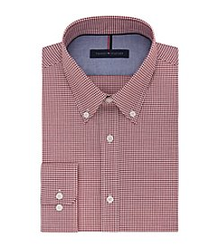 Tommy Hilfiger® Men's Regular Fit Non-Iron Gingham Long Sleeve Button Down Collar Dress Shirt