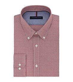 Tommy Hilfiger® Men's Regular Fit Non-Iron Gingham Long Sleeve Button Down Collar Dress Shirt