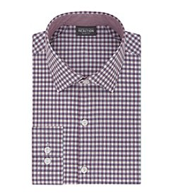 Kenneth Cole REACTION® Men's Slim Fit Gingham Long Sleeve Dress Shirt