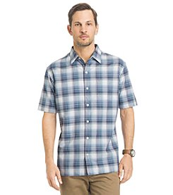 Van Heusen® Men's Short Sleeve Texture Woven Button Down Shirt