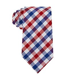 Tommy Hilfiger® Men's Red, White, And Blue Gingham Tie