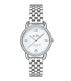 COACH DELANCEY SILVERTONE STAINLESS STEEL BRACELET WATCH
