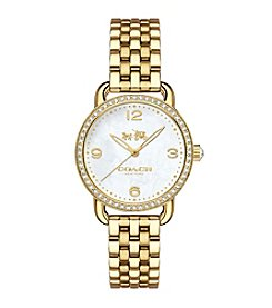 COACH DELANCEY GOLDTONE BRACELET WATCH