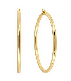 Samara® Medium Tube Goldtone Hoop Earrings