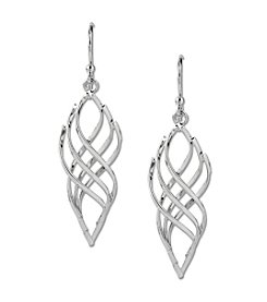 Samara® Silvertone Twisted Drop Earrings