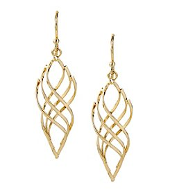 Samara® Goldtone Twisted Drop Earrings