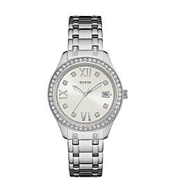 GUESS Women's Silvertone Waverly Watch