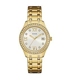 GUESS Women's Goldtone Waverly Watch