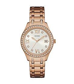 GUESS Women's Rose Goldtone Waverly Watch