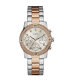 GUESS Women's Two Tone Confetti Watch