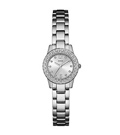GUESS Women's Silvertone Dixie Watch