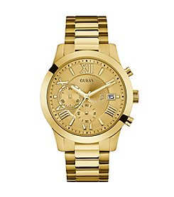 Guess Men's Goldtone Atlas Chronograph Watch