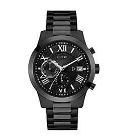 GUESS Men's Black Tone Atlas Chronograph Watch
