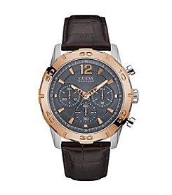 GUESS Men's Two Tone Caliber Watch