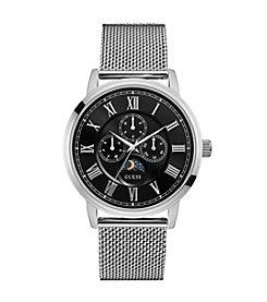 GUESS Men's Silvertone Delancy Watch
