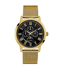 GUESS Men's Goldtone Delancy Watch