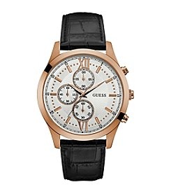 GUESS Men's Rose Goldtone Hudson Chrono Watch