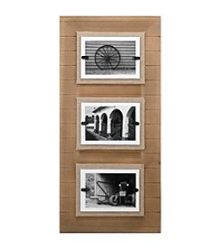 Malden Three Opening 4x6 Plank/Burlap Collage Frame