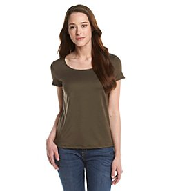 Notations® Petites' Solid Round Neck Tee