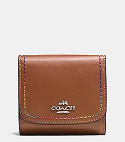COACH Rainbow Stitch Small Wallet In Calf Leather