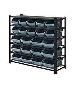 Whalen Furniture 5-Tier Bin Rack