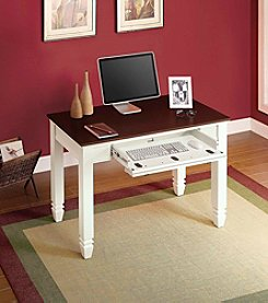 Whalen Furniture White and Cherry Writing Desk