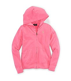 Ralph Lauren Childrenswear Girls' 2T-6X Atlantic Terry Hoodie