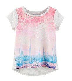 Jessica Simpson Girls' 7-16 Short Sleeve Marie Fireworks In The Desert Tee