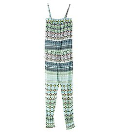 Jessica Simpson Girls' 7-16 Cora Geo Striped Jumpsuit