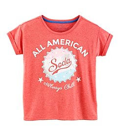 Jessica Simpson Girls' 7-16 Short Sleeve Ashlen Soda Tee