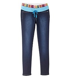 Squeeze® Girls' 2T-16 Chevron Knit Waistband Skinny Jeans