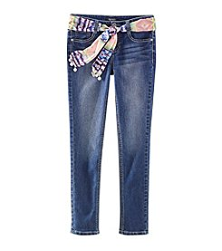 Squeeze® Girls' 7-14 Skinny Jeans With 3-In-1 Sash
